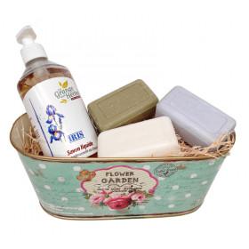 Vintage soap basket