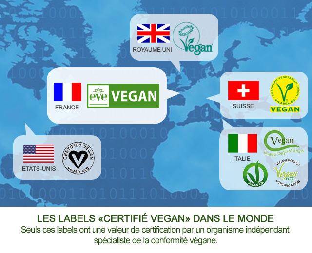 labels vegan monde